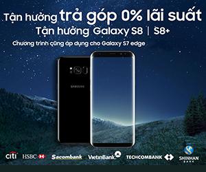 Tận hưởng trả góp 0% lãi suất khi mua Galaxy S8 | S8+